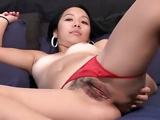 Sensual Babe Raquel Exposes Her Lovely Ass And Tight Pussy On The Sofa
